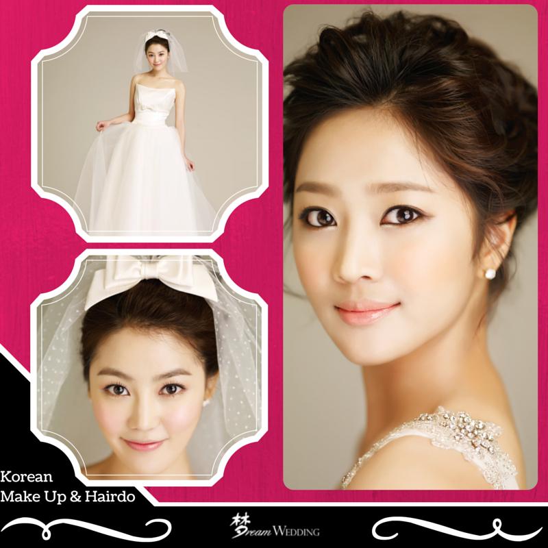 Wedding Hairstyle Korean: Korean Bridal Make Up And Wedding Hairdo