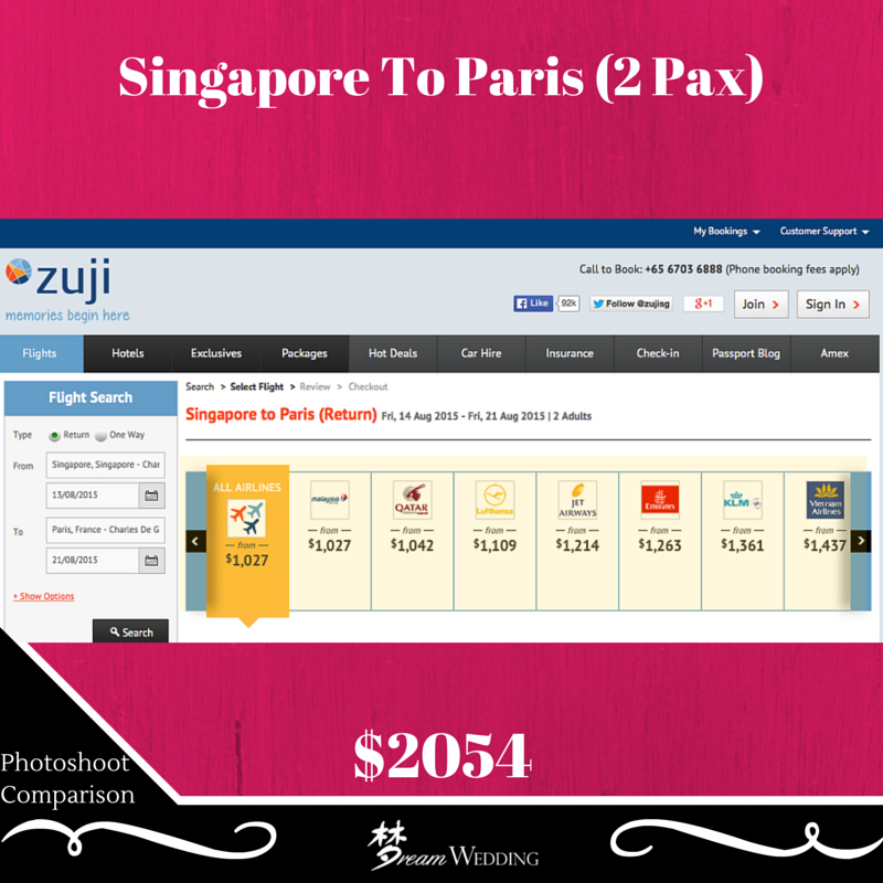 Air Ticket Comparison Gallery Between Korea, Europe (Paris ...