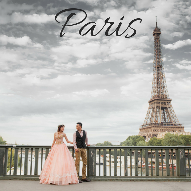 Paris Pre Wedding photoshoot package wedding gown rental dream wedding boutique singapore bridal make up package