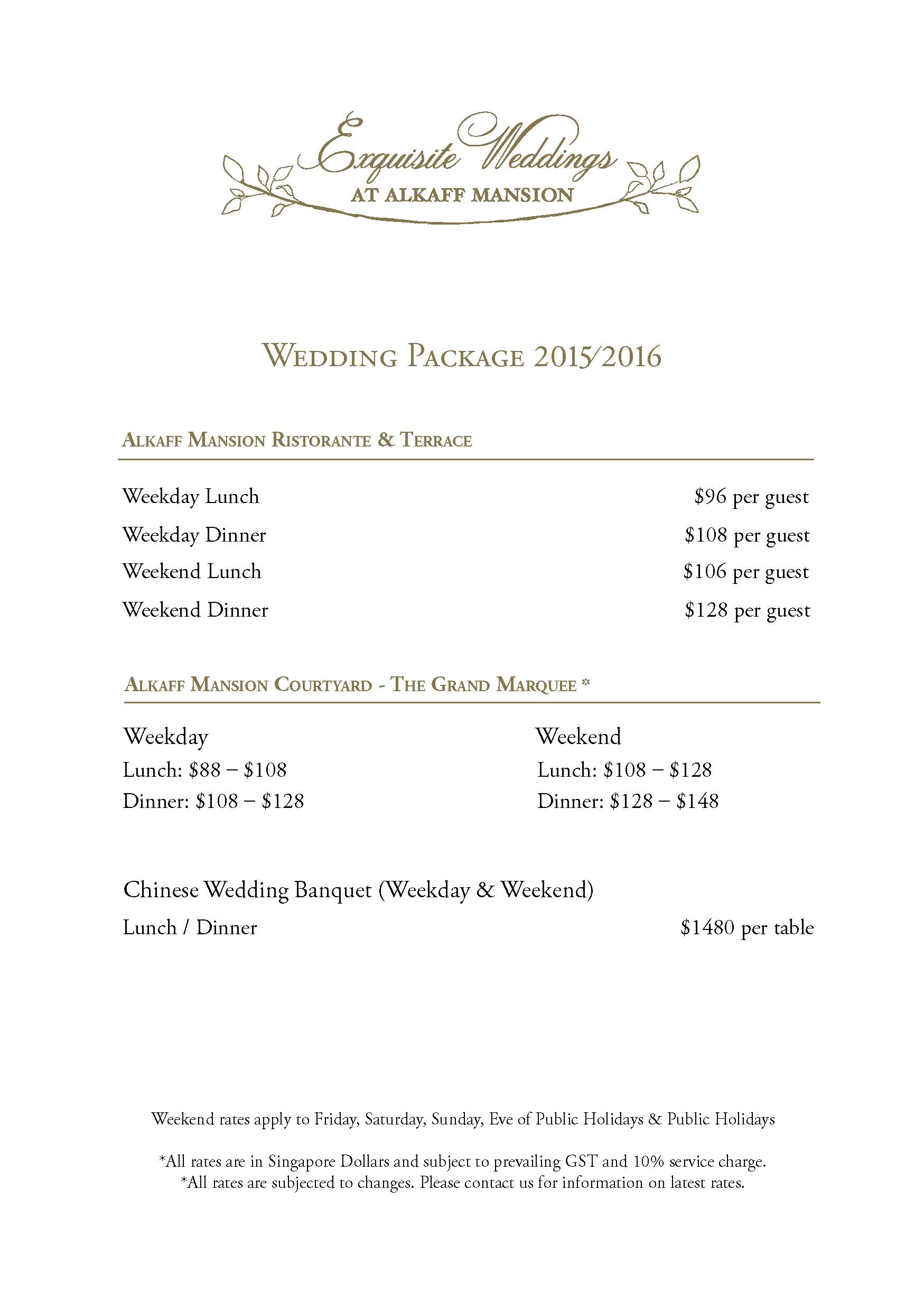 Alkaff Mansion Ristorante Wedding Venue Dream