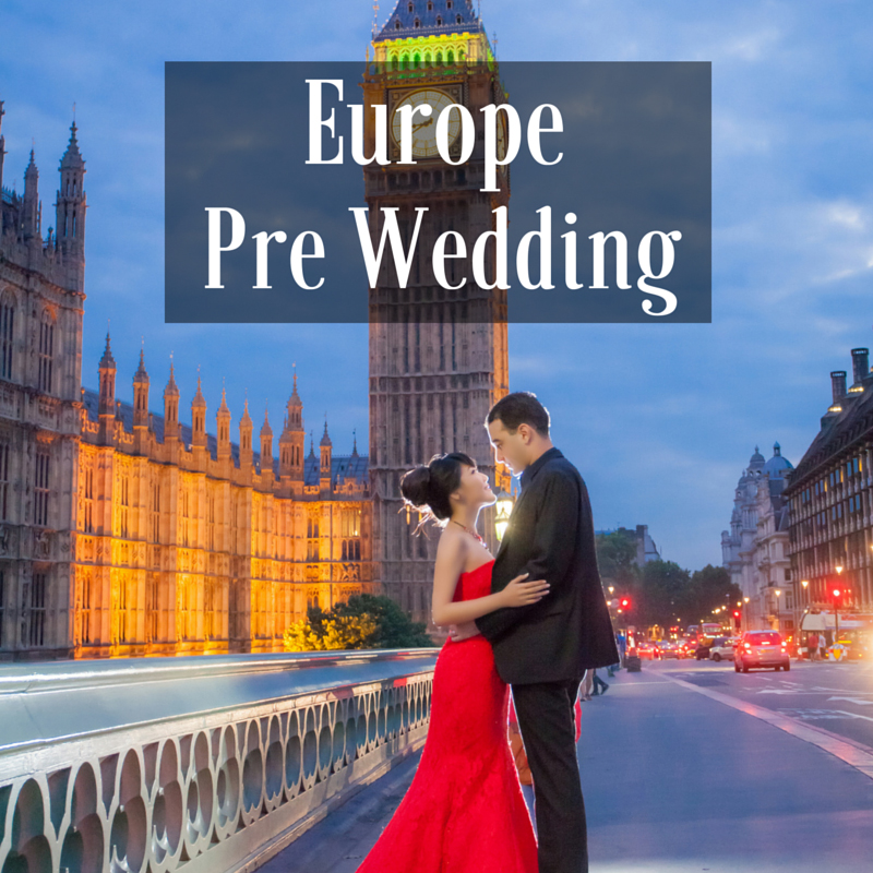 Europe london Pre Wedding photoshoot package wedding gown rental dream wedding boutique singapore bridal make up package