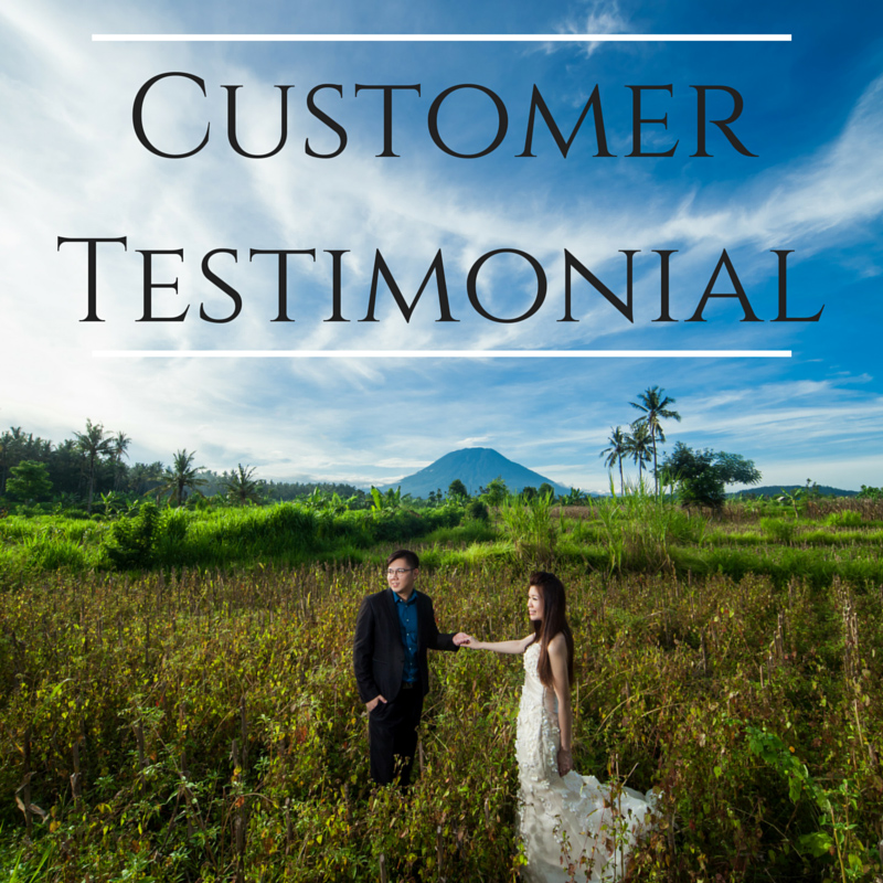 customer testimonial singapore pre wedding dream wedding boutique couple review
