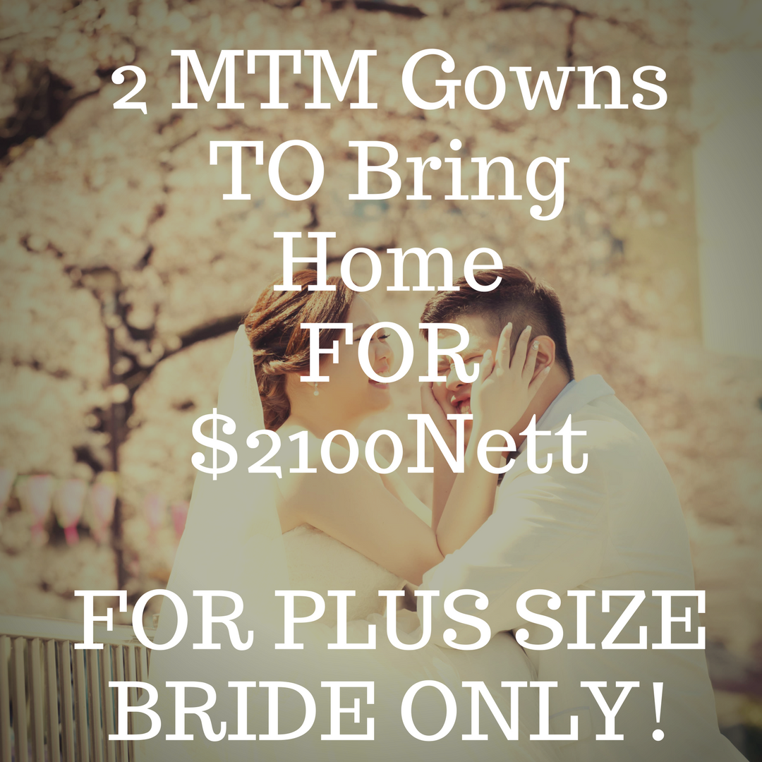 Dream Wedding Plus Size Wedding Gown bridal singapore wedding planner best service customsied wedding gown rental or purchase pregnant bride