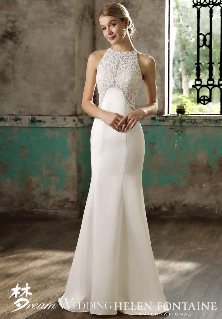 1c99e0ad3f86e Maxi High Neck Sleeveless Mermaid Gown Style   HFW2714 - Dream Wedding