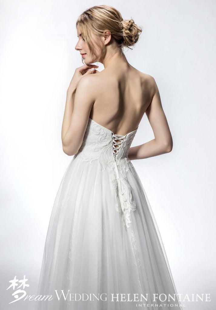 3318d88106 How to tie a corset back wedding dress - Dream Wedding