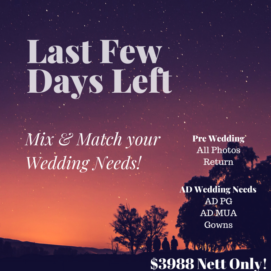 Mix & Match your Actual Day & Pre Wedding Wedding Needs