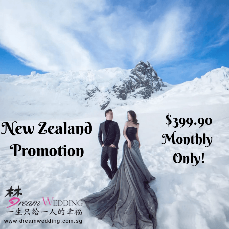 Dream Wedding Boutique singapore bridal all photo return promotion pre wedding photography local New Zealand Queenstown Auckland pre wedding photoshoot package